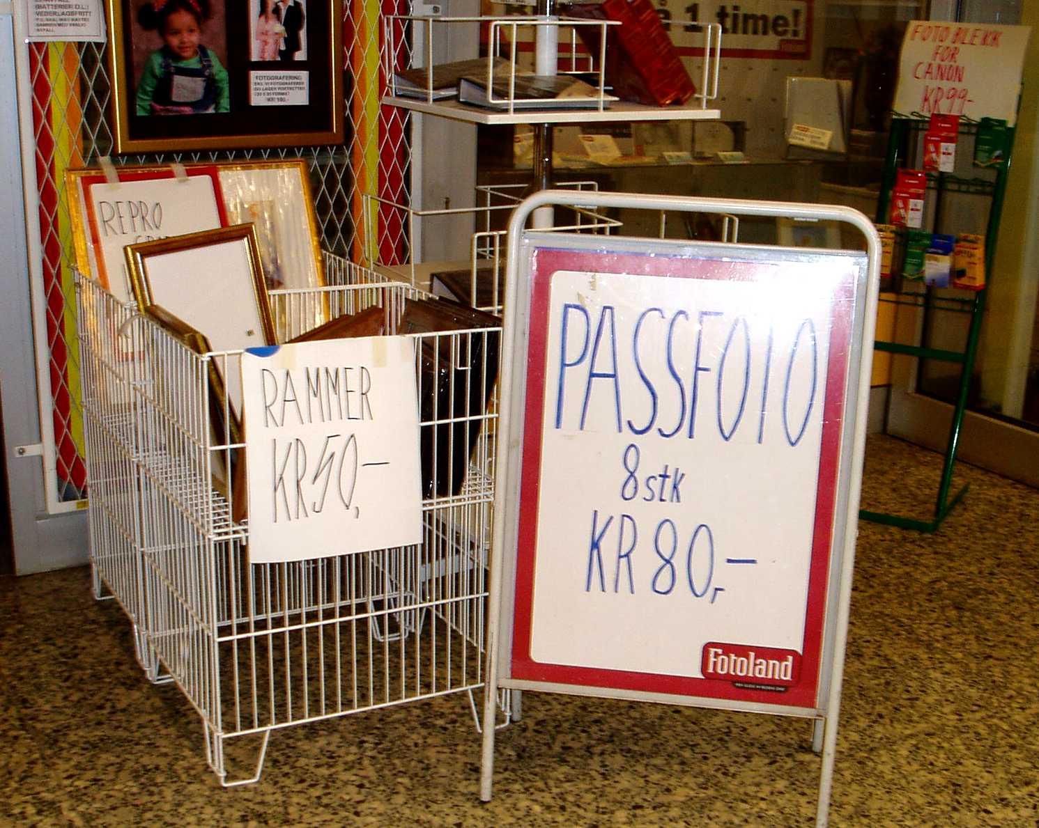 PASSFOTO - 8 stk - KR 80,-