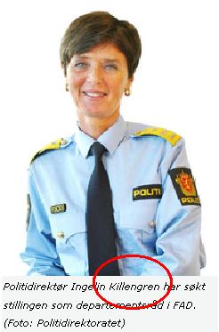Politidirektør Ingelin Killengren har søkt stillingen som departementsråd i FAD. (Foto: Politidirektoratet)
